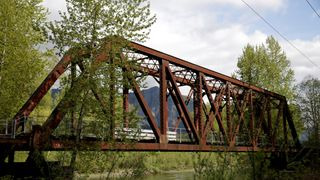 "Reinig Bridge, one of the locations for the ""Twin Peaks"" television series, spans the Snoqualmie River"
