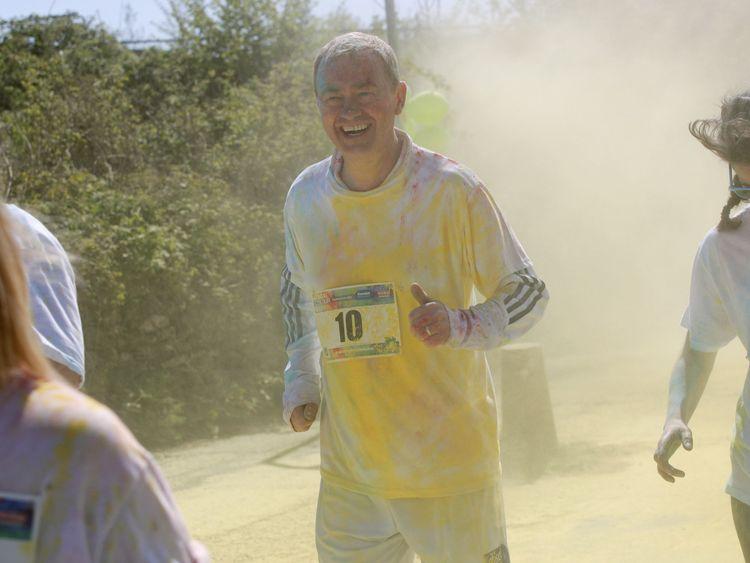 Tim Farron spent the day at the Kendal Colour Dash raising money for St John's Hospice