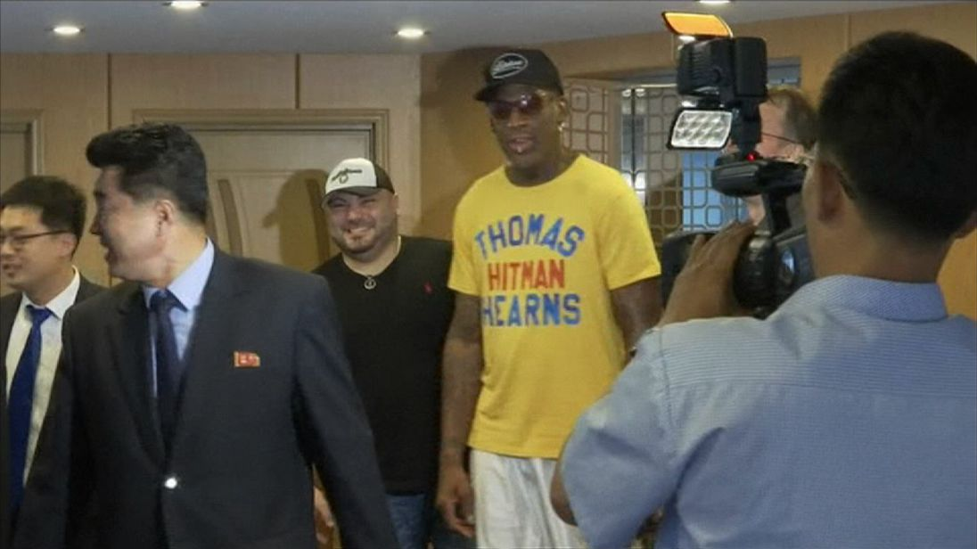 Dennis Rodman's 5-day trip has been a whirlwind of visits and tours