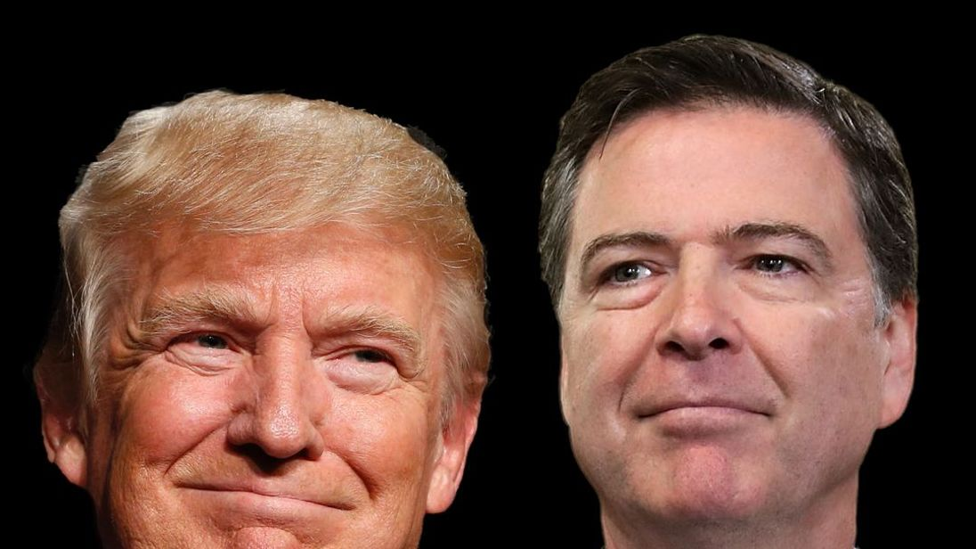 Donald Trump and James Comey