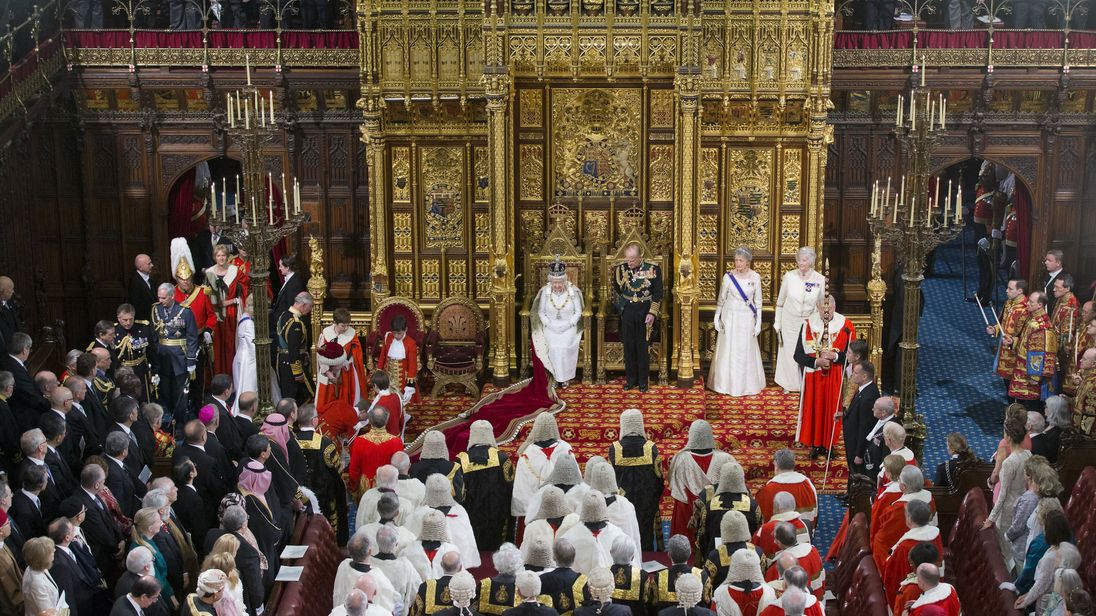 The Queen's Speech during the State Opening of Parliament in 2016
