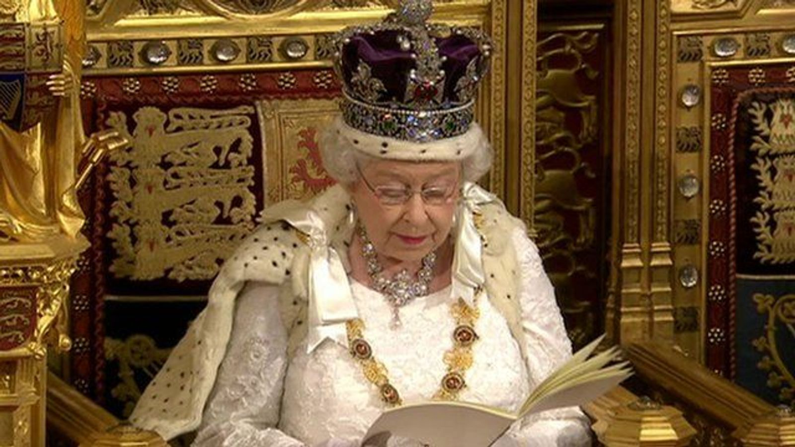 The Queen's Speech being delivered
