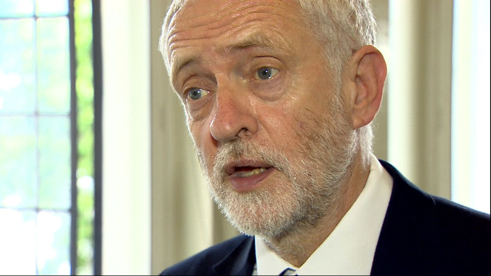 Jeremy Corbyn responds to news of the fire in a West London tower block