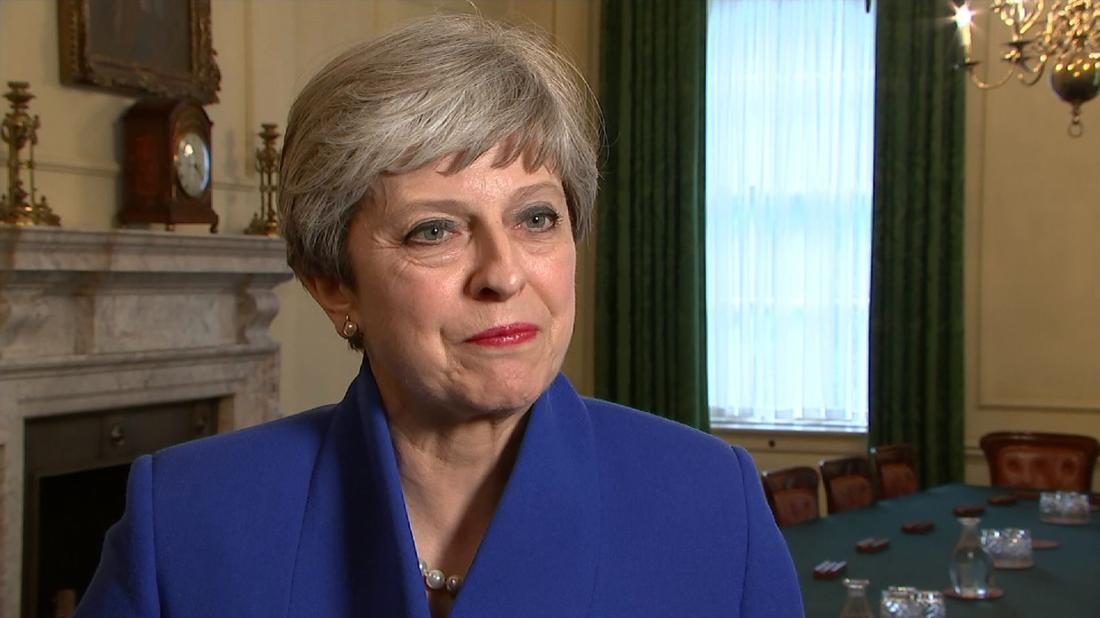 Theresa May reacts to the fact that the election result was not as expected