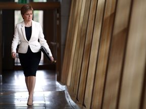Nicola Sturgeon arrives ahead of First Minister's Questions at the Scottish Parliament