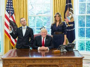 Rhode Island Teacher of the Year 2017 meets the 45th President of the United States.