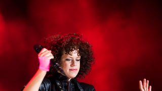 Régine Chassagne from Arcade Fire performs