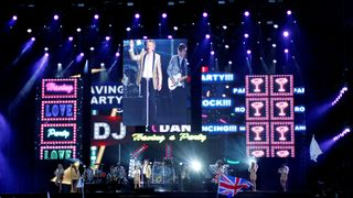 Rod Stewart performs as the headline act on the Main Stage