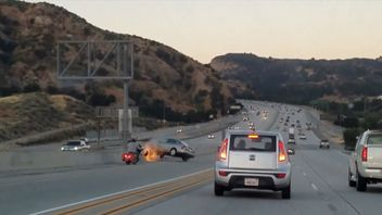 Dashcam footage shows the incident in California