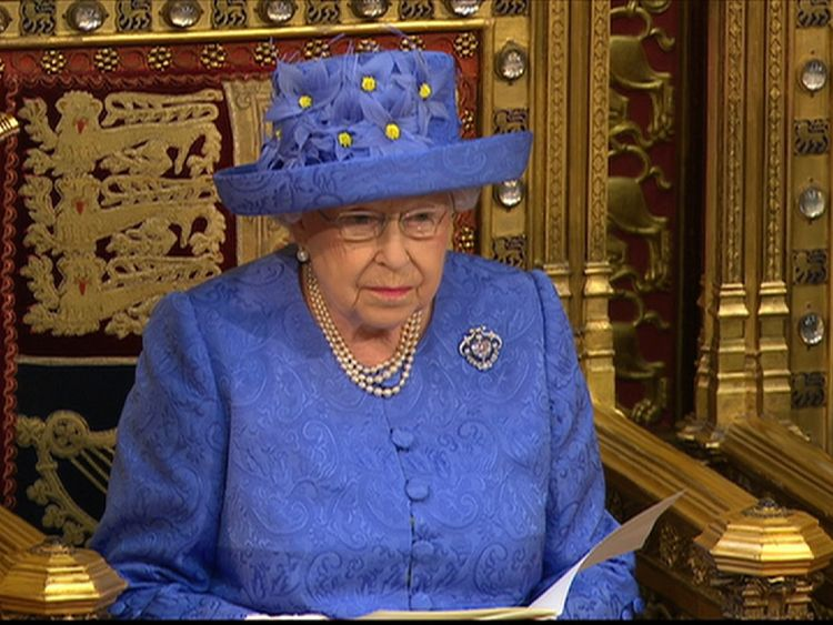 The Queen at the state opening of parliament.