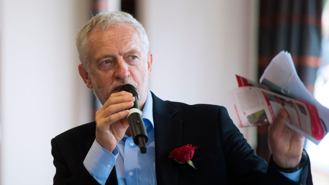 Jeremy Corbyn insisted 'there's a thirst to do things very differently'