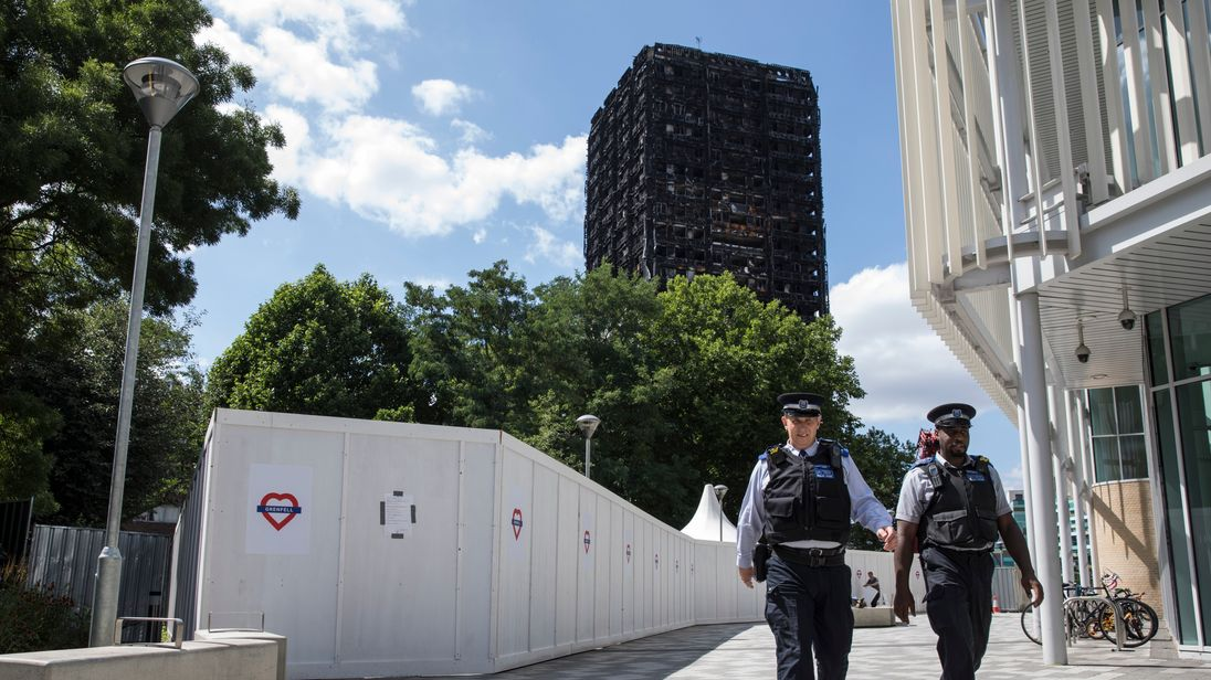 The extent of the fire's destruction has made the investigation difficult