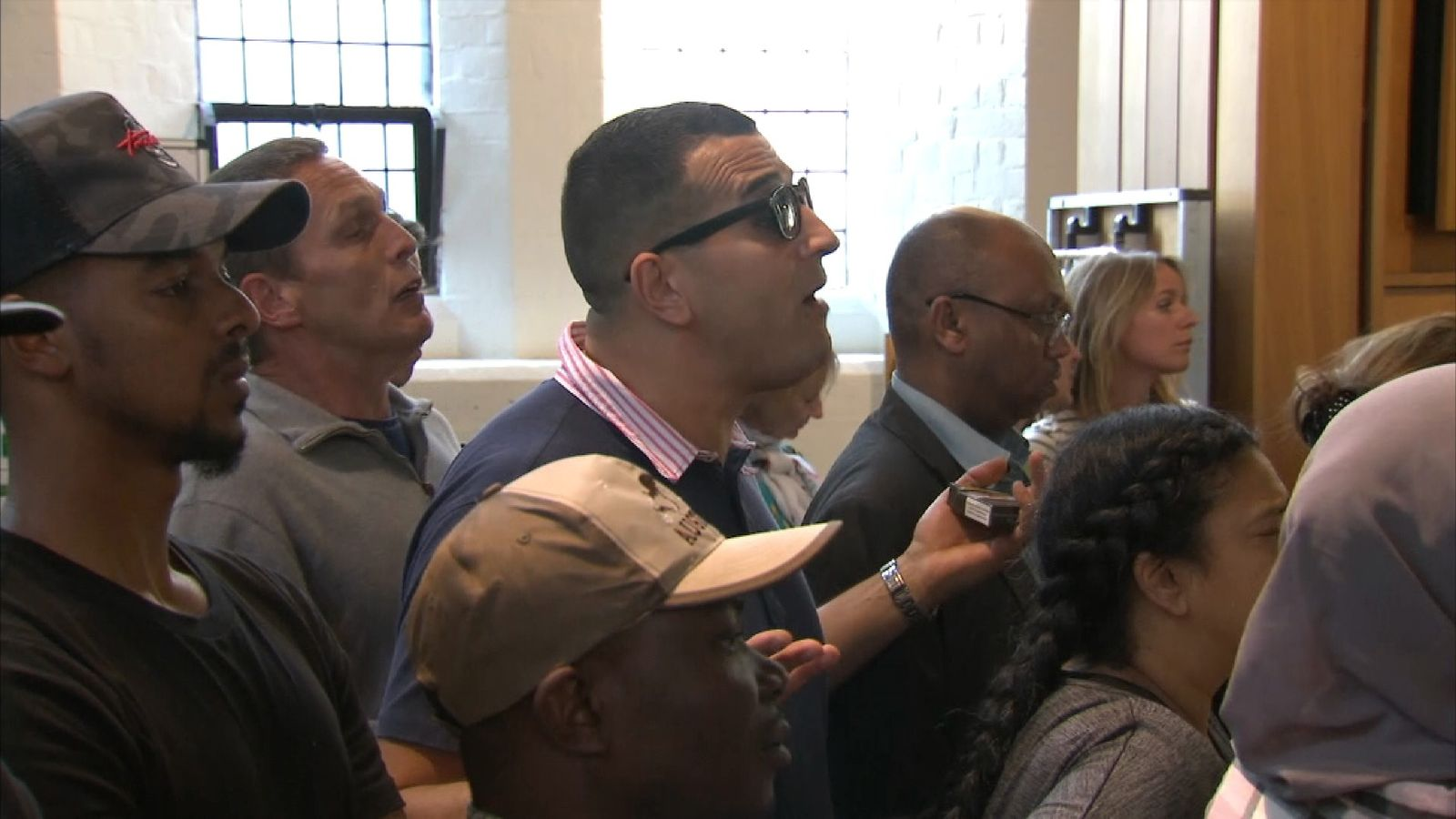 Angry residents confronted council leaders at the meeting