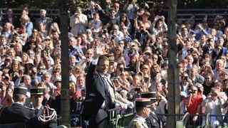 Emmanuel Macron at the Bastille Day parade