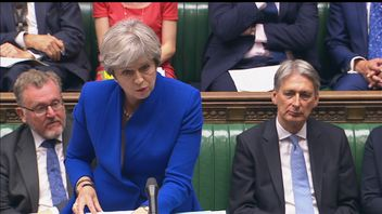 The Prime Minister talking in PMQs debate.