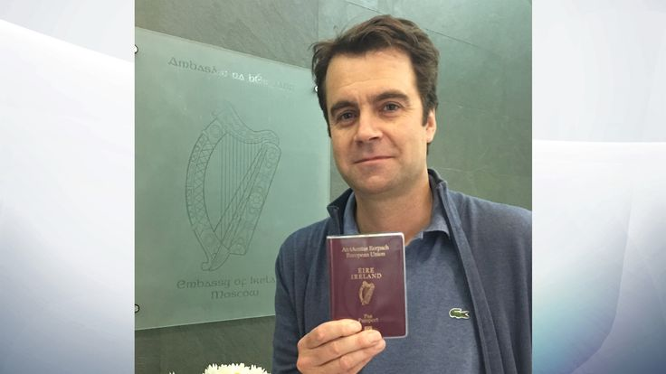 I've picked up my passport from the Irish embassy in Moscow