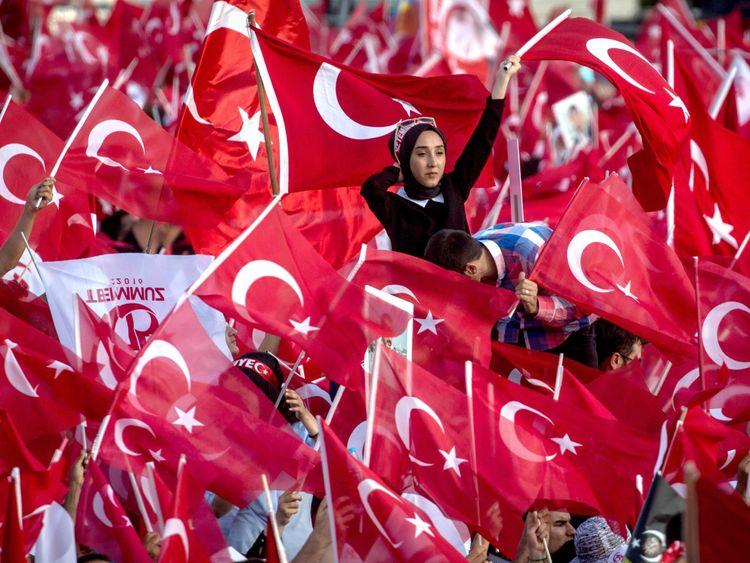 Supporter of Turkey's President Recep Tayyip Erdogan