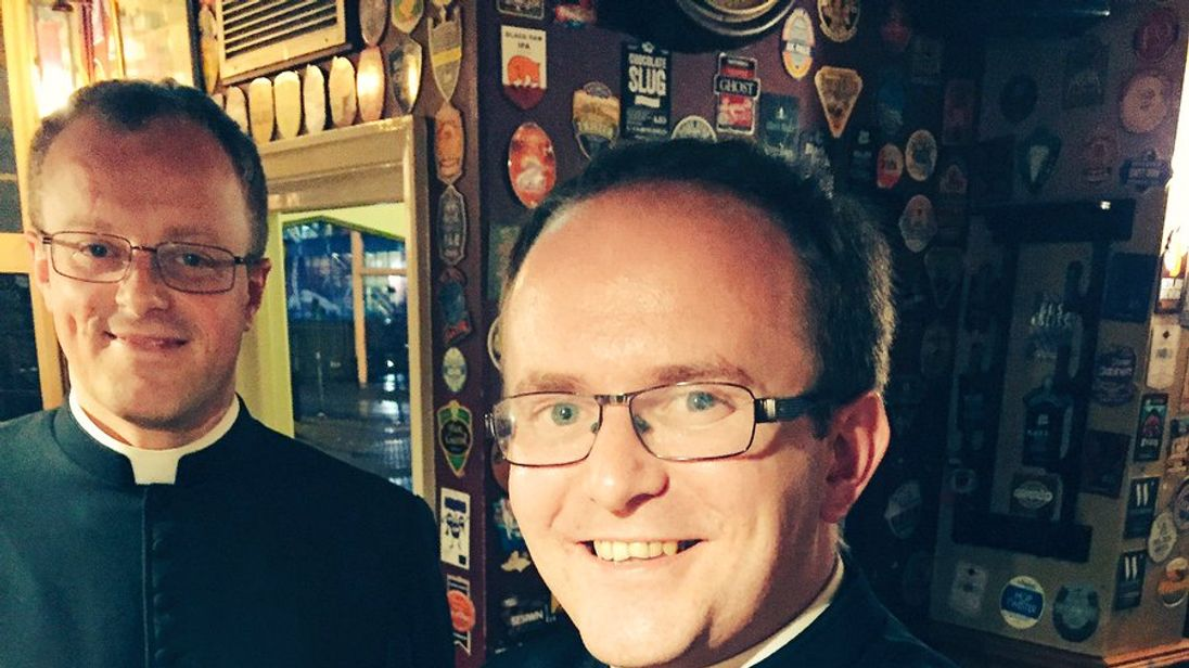 Reverend James enjoyed a pint that shared his name. Pic: Matt Morgan