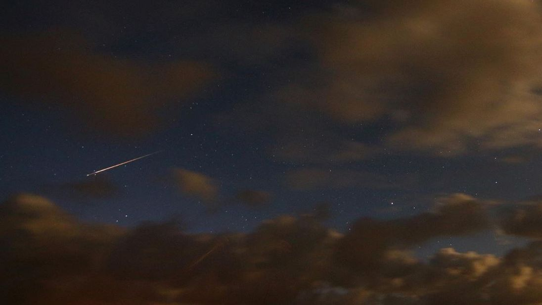One of the meteors, as seen by Isle of Lewis resident John. Pic: @John-GM7PBB