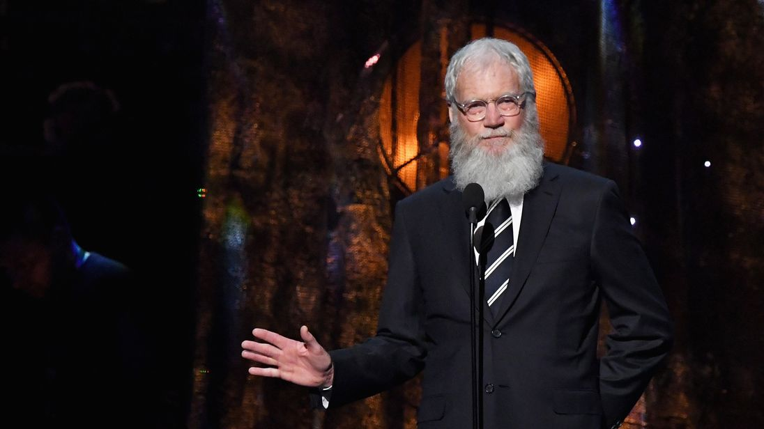 NEW YORK, NY - APRIL 07: Presenter David Letterman speaks onstage at the 32nd Annual Rock & Roll Hall Of Fame Induction Ceremony at Barclays Center on April 7, 2017 in New York City. Debuting on HBO Saturday, April 29, 2017 at 8:00 pm ET/PT (Photo by Mike Coppola/Getty Images)