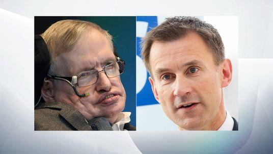 Stephen Hawking and Jeremy Hunt