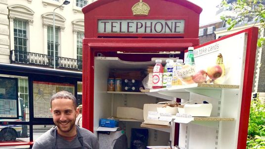 Ben Spier rented one in London's Bloomsbury Square to sell salads and his business proved to be such a hit with customers it allowed him to open a permanent residence at St James' Park station.