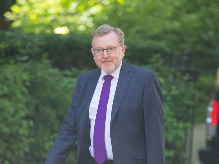 Scottish Secretary David Mundell arrives at 10 Downing Street for a Cabinet meeting