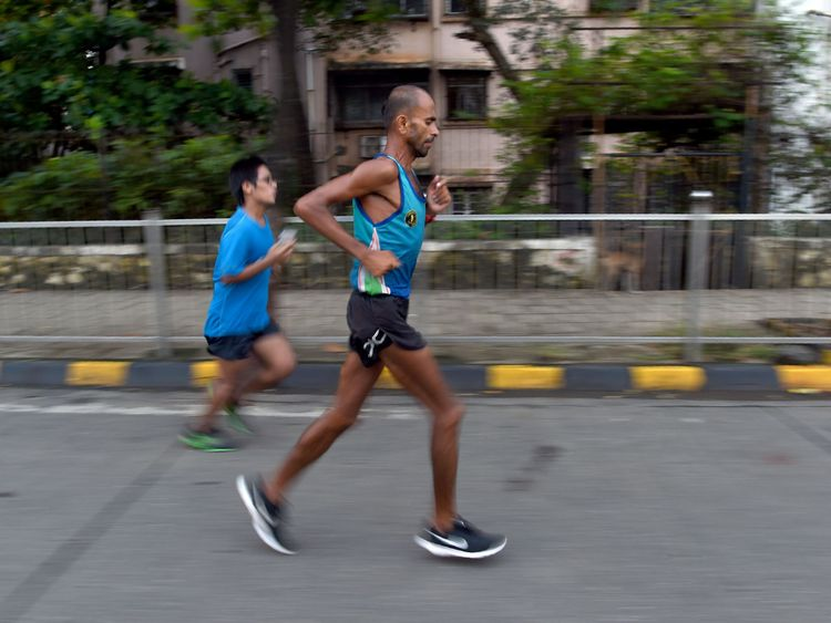 The 44-year-old battled through scorching temperatures and monsoon rains during his challenge