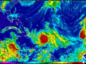 The hurricane is heading for a direct hit on Puerto Rico