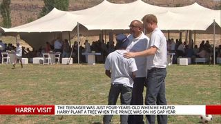 Prince Harry Reunites With Lesotho Teenager He First Met In 2004