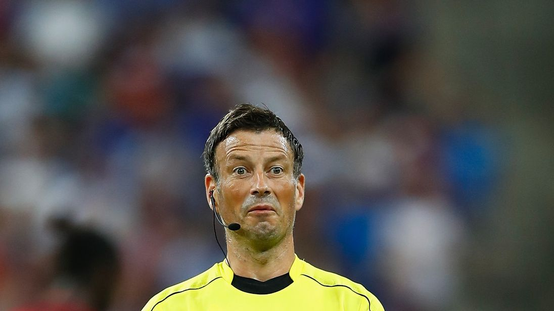 PARIS, FRANCE - JULY 10:  Referee Mark Clattenburg gestures during the UEFA EURO 2016 Final match between Portugal and France at Stade de France on July 10