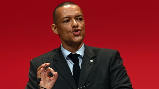 Shadow Secretary of State for Defence Clive Lewis speaks on the second day of the Labour Party Conference in Liverpool, north west England on September 26, 2016. / AFP / PAUL ELLIS (Photo credit should read PAUL ELLIS/AFP/Getty Images)