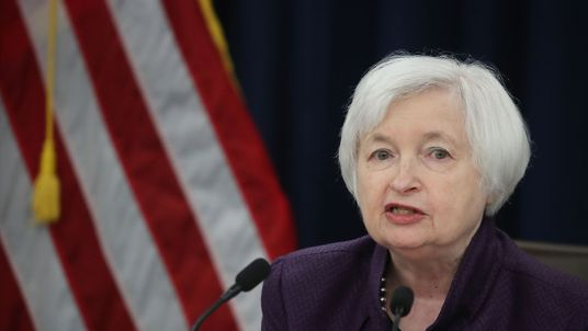 US Fed chair Janet Yellen speaking after the Fed's latest rates decision on 21 September 2016