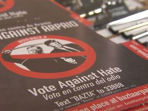 """Latino campaigners are urging people to """"vote against hate"""""""