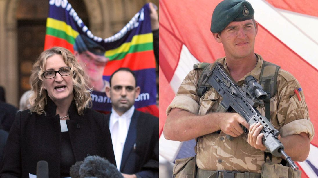 Claire Blackman and her husband ex-Royal Marine Alexander Blackman