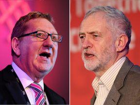 Unite's Len McCluskey and Labour leader Jeremy Corbyn