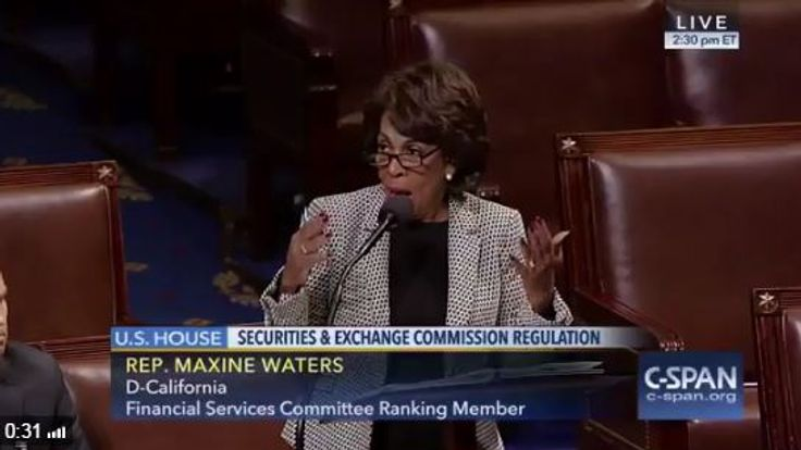 Representative Maxine Waters was on C-Span when RT broke into the channel