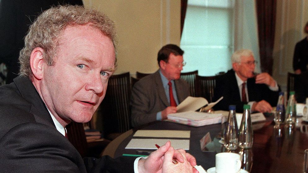 Mr McGuinness played a key role in the Good Friday agreement