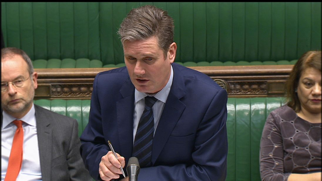 Keir Starmer is not satisfied with the timing of the delivery of the White Paper on the triggering of Article 50