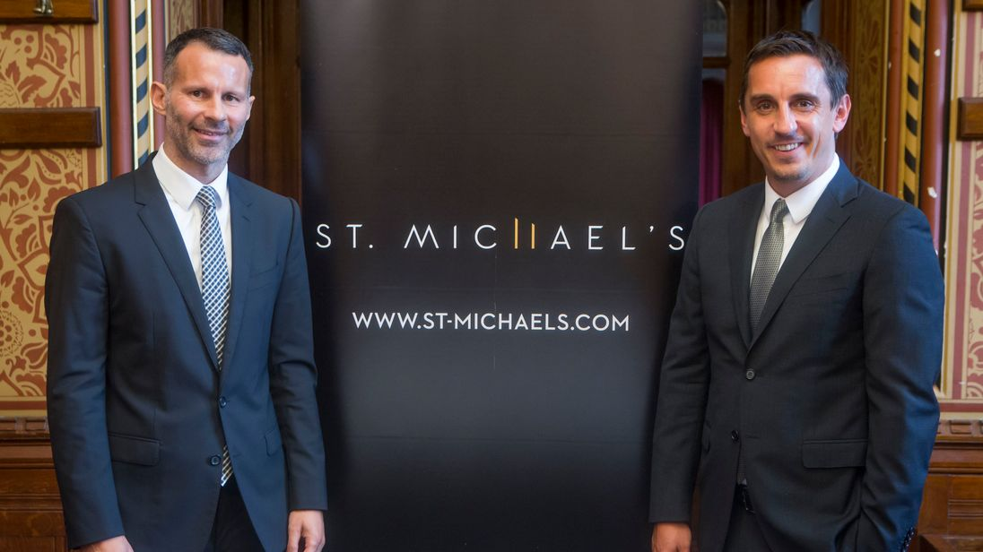 Ryan Giggs and Gary Neville unveil their St Michael's scheme in Manchester