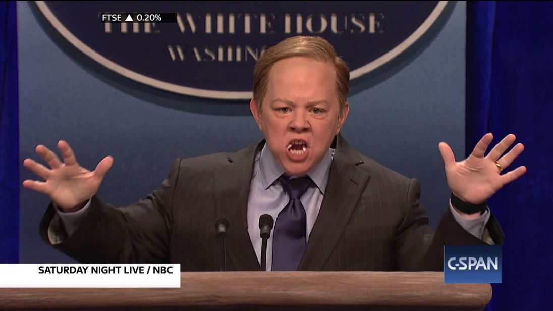 Comedian impersonating Sean Spicer - FAIR DEAL NO ACCESS, NO DIGITAL ACCESS, DO NOT USE AFTER 070217