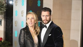 Actor Aaron Taylor-Johnson, nominated for best supporting actor, seen here with his wife director Sam Taylor-Johnson