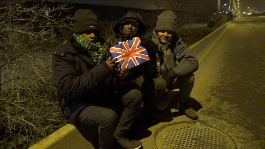 Child refugees Calais