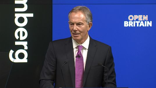 Tony Blair urges Britain to revolt