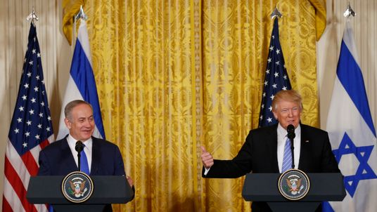 US President Donald Trump and Israeli Prime Minister Benjamin Netanyahu at the White House