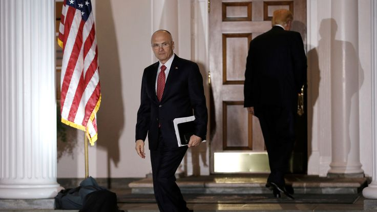 Andrew Puzder on the night he met Donald Trump ahead of being nominated to be labour secretary