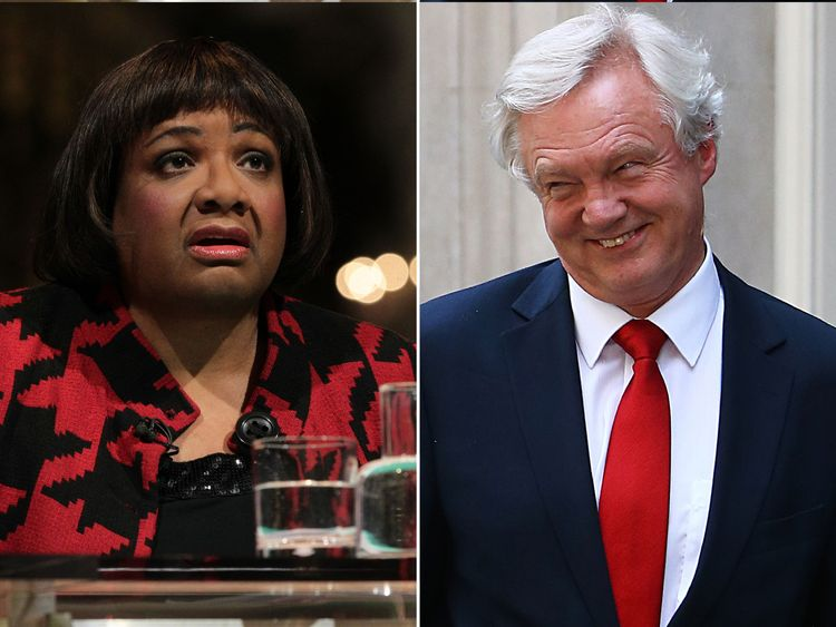 Diane Abbott (L) and David Davis