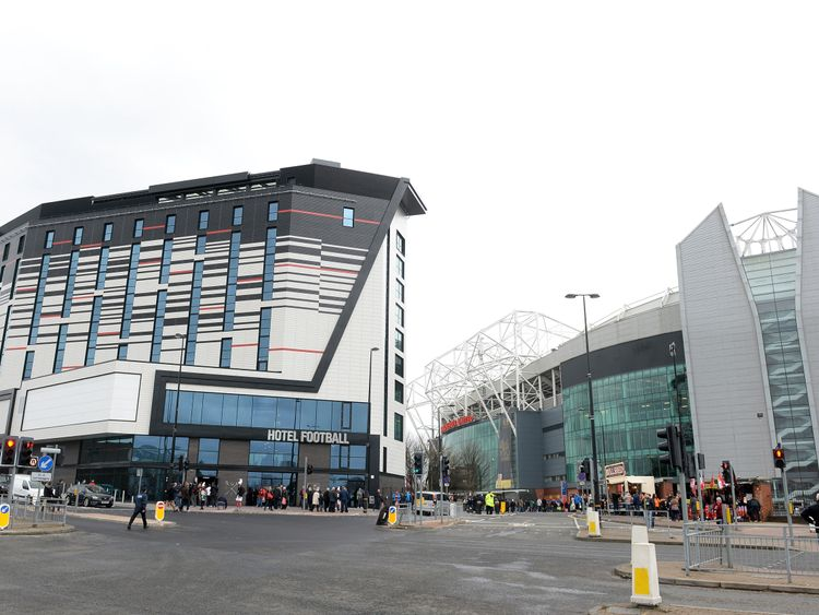 Hotel Football, owned by Ryan Giggs and Gary Neville, next to Old Trafford