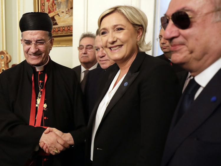 Marine Le Pen on the election trail in Lebanon