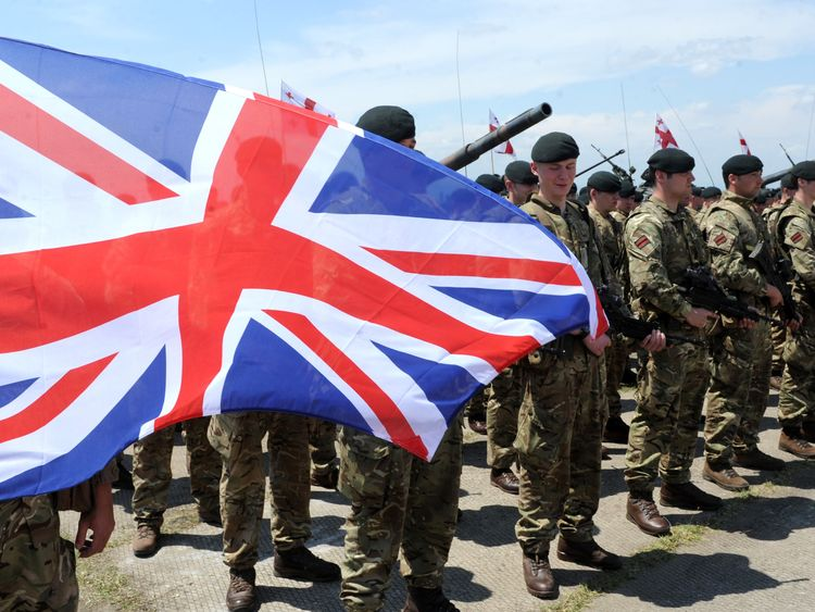British troops on a NATO exercise in Georgia in 2016